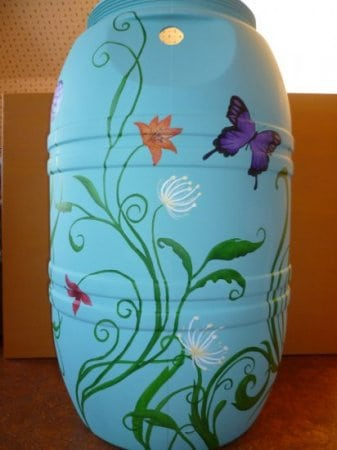 Painted Rain Barrel Auction (back)