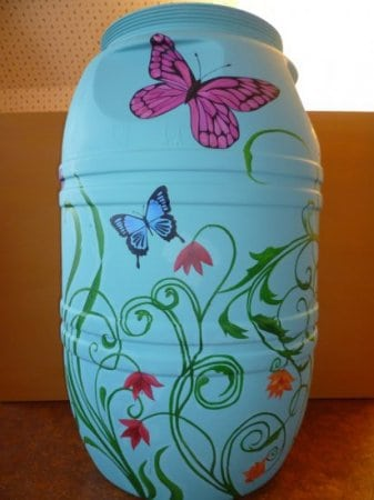 Painted Rain Barrel Auction (side 2)
